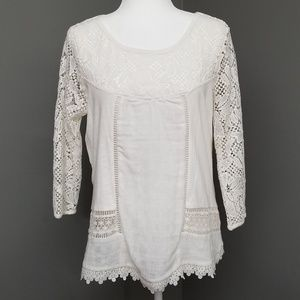 Hannah Lace 3/4 Sleeve Top